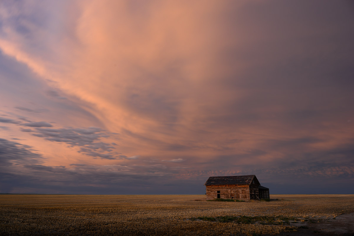 Sunset, wide open spaces