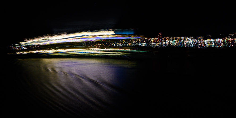 Impression of ship passing in the night