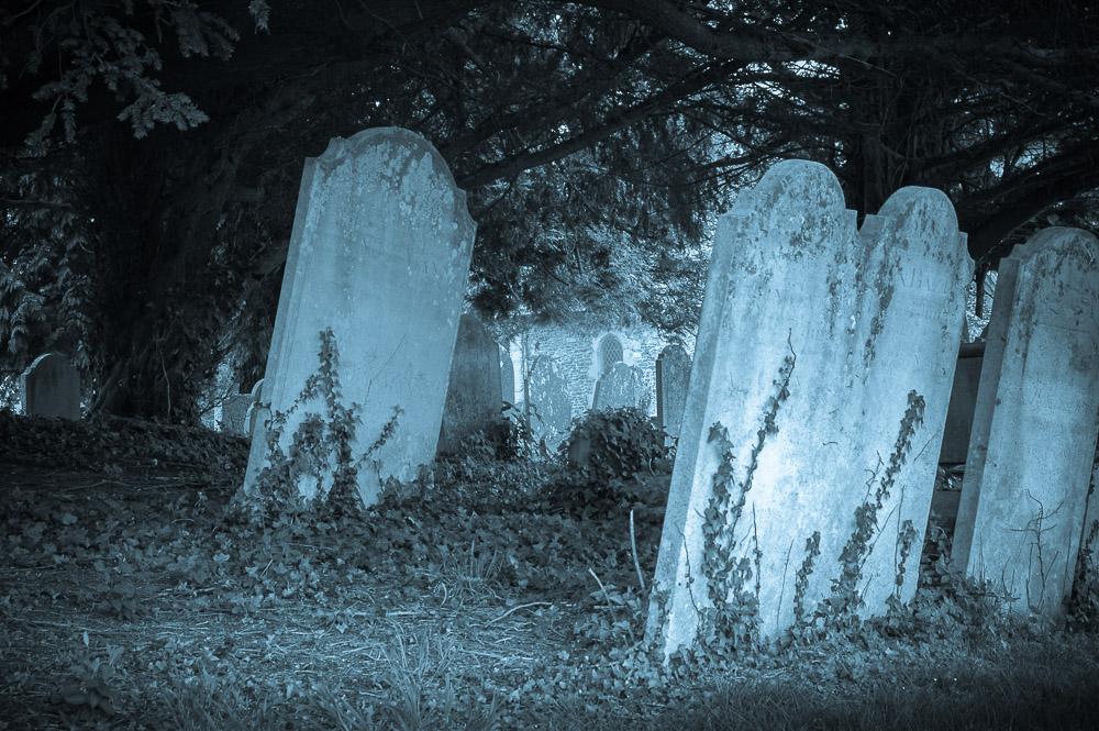 Eerie headstones
