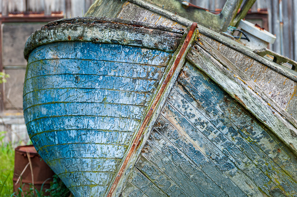 Old, weathered boat