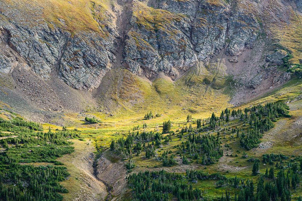 High alpine valley